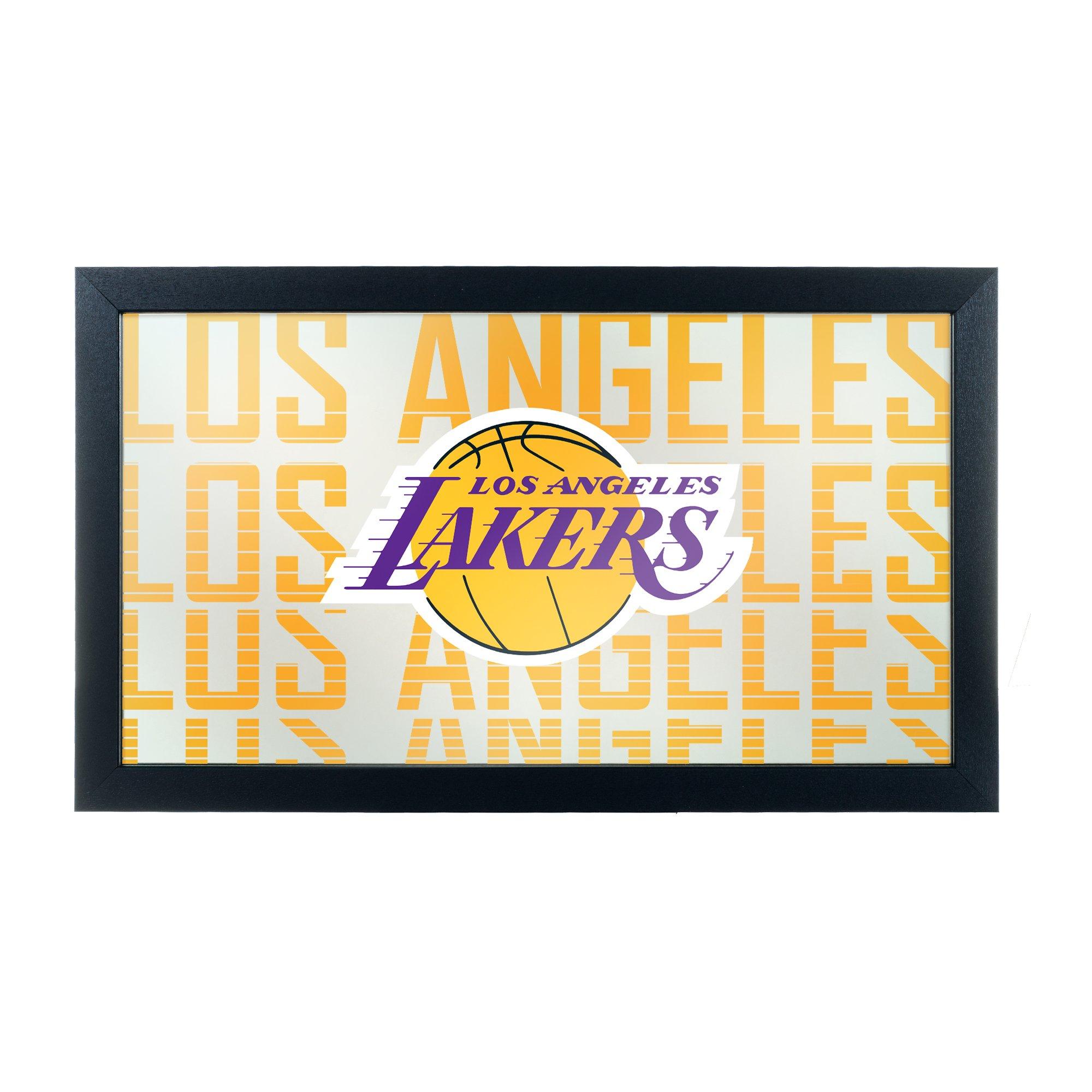 Trademark Gameroom NBA1500-LAL3 NBA Framed Logo Mirror - City - Los Angeles Lakers