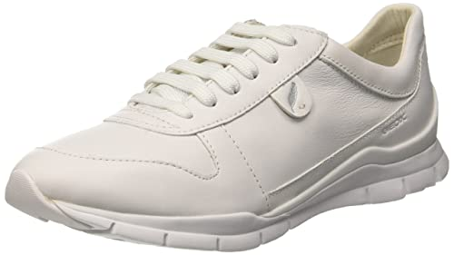 Geox Womens D Sukie a Low-Top Sneakers, White (IVORYC1008)