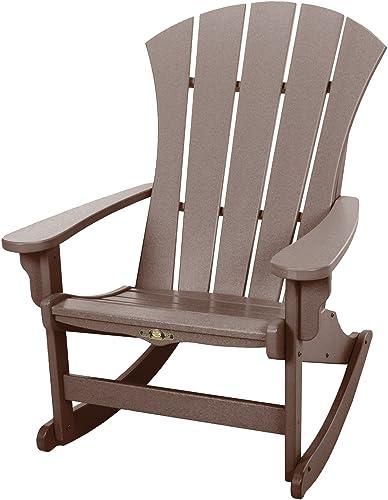 Original Pawleys Island Chocolate Durawood Sunrise Adirondack Rocking Chair