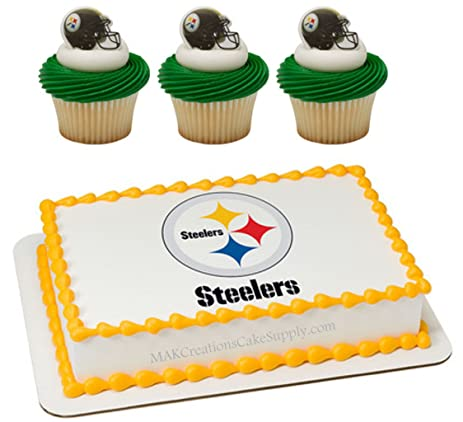 Amazoncom Pittsburgh Steelers Licensed Edible Wafer Cake Topper