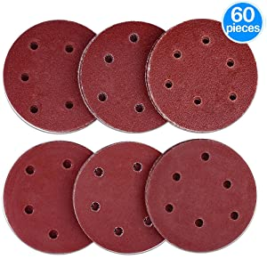 Daptez /® Self-Adhesive Sanding Discs 150mm 10pk Grit 60 Aluminium Oxide