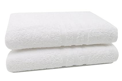 Zollner® 2 pezzi asciugamani da bagno teli doccia grandi in morbida