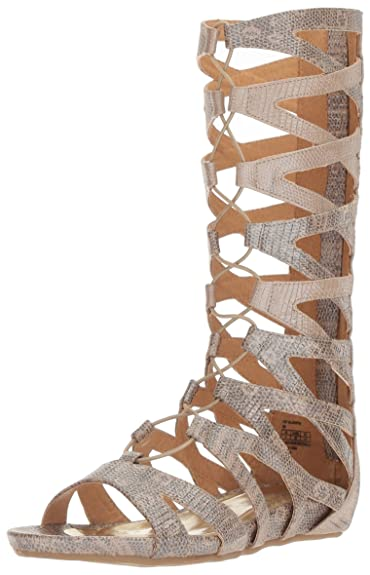 fdd9979ef579 Kenneth Cole REACTION Girls  Lost Gladiator Sandal Tan 6 M US Big Kid