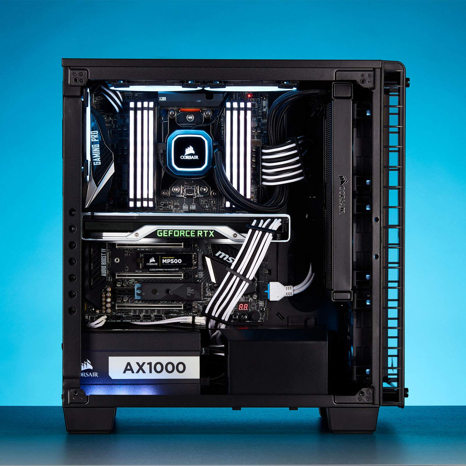 CORSAIR Premium Individually Sleeved PSU Cables Starter Kit - Black, 2 Yr Warranty, for Corsair PSUs by Corsair (Image #12)