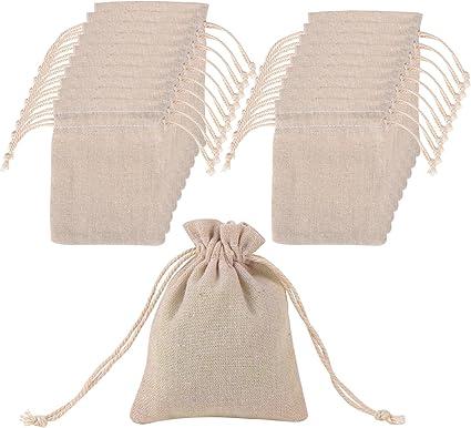 20 Piezas Bolsa de Muselina de Algodón con Cordón para Materiales ...