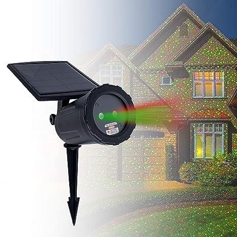 Amazon.com: Night Stars Solar Powered Laser Light Projector ...