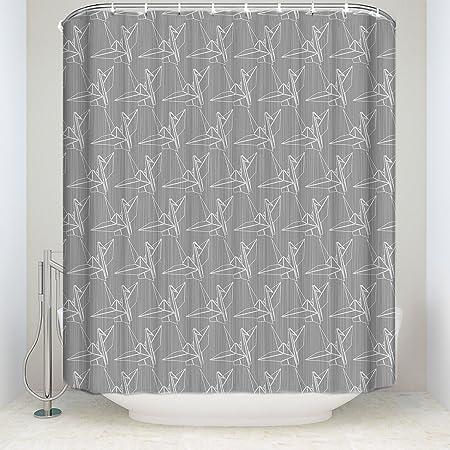 Cortina de ducha para colgar de San Valentín Día tema, papel grúas Decoración para el hogar para baño por liberkin: Amazon.es: Hogar