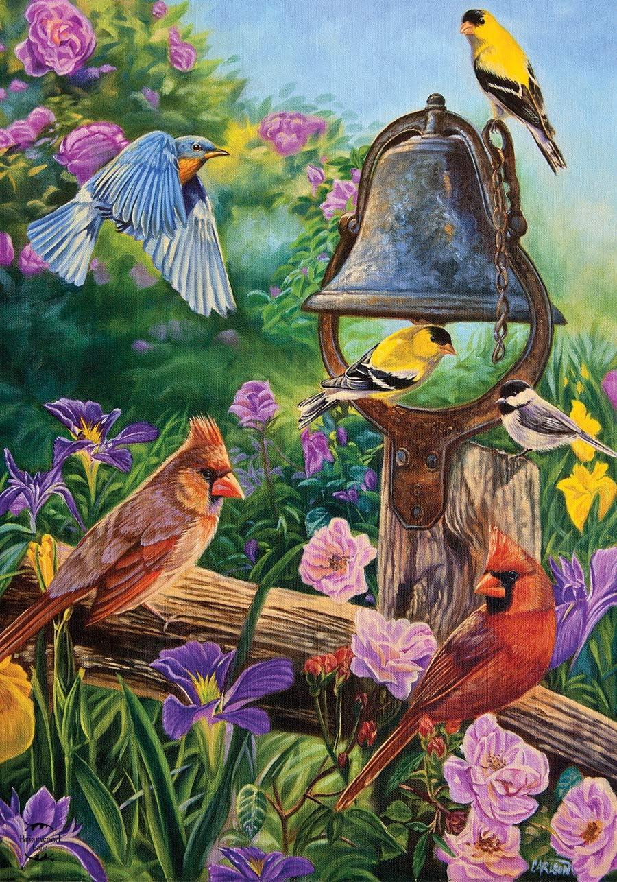 """Briarwood Lane Garden Melodies Spring Birds Garden Flag Floral Bell 12.5"""" x 18"""""""