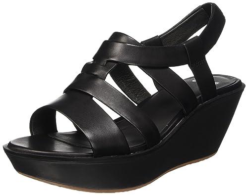 Toe Uk Camper Damas Black 8 Sandals Open 42 Women's Eu black q84wAtR