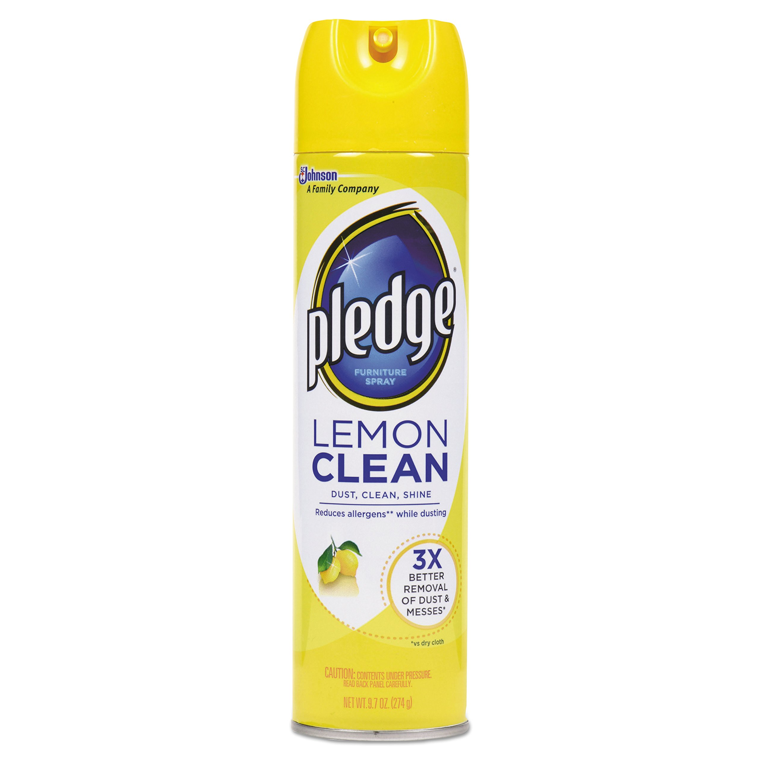 Pledge 697831 Furniture Polish, Lemon, 9.7 oz, Aerosol (Case of 12) by Pledge