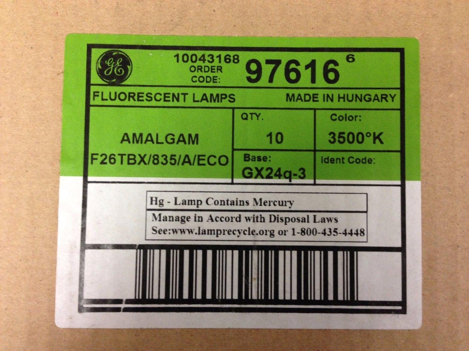 20 Ge 97616 F26TBX/835/A/Eco Amalgam Biax 26 W 4 Pin GX24Q-3 Base 3500K Bulbs
