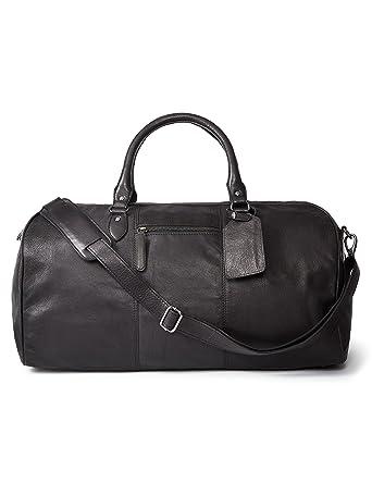 6f2c6de190 Amazon.com  LEATHER ARCHITECT- 100% Leather Men s Duffel Bag-Black ...