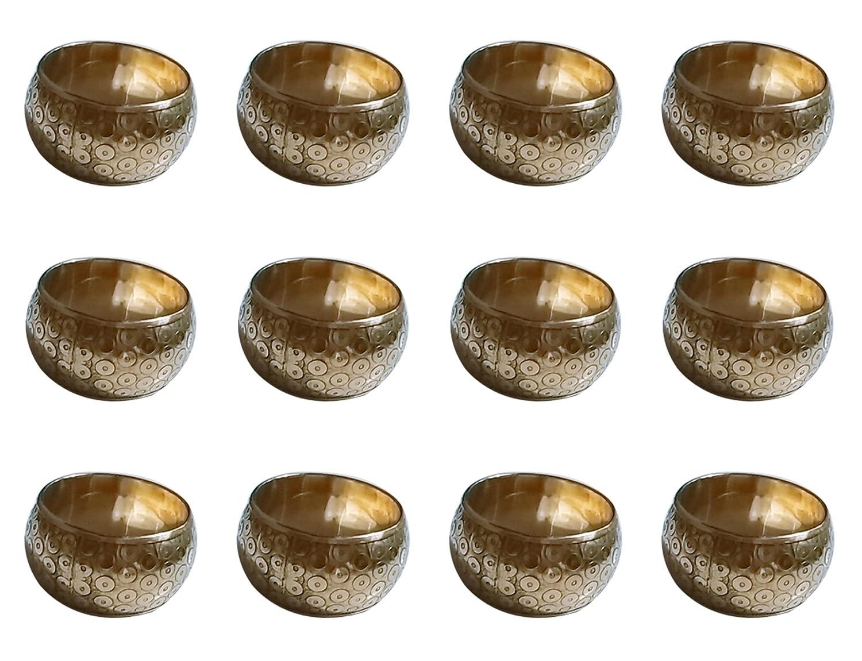 ARN Craft ハンドメイド ゴールド ナプキンリング 真鍮 ホーム キッチン ダイニングルーム テーブル用 標準 ゴールド NHNR- 12-12 12  B07DXBMSS9