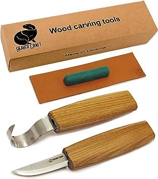 Amazon.com: Juego de cuchillos de madera para tallar ...