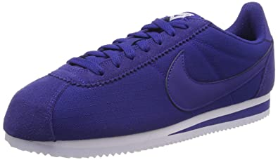 los angeles 92bbe d6868 Nike Classic Cortez Nylon, Baskets Homme, Bleu Deep Royal Blue-White 407,