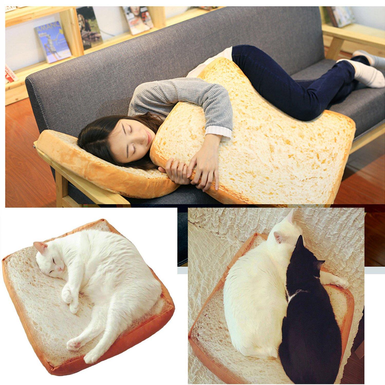 Homdsim morbido gatto cuscino letto pane Pet materasso letto tappetini da letto cuscino per cani e gatti Small Medium, sonno riposo giocare cuscino di lettura