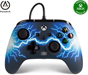PowerA Enhanced Wired Controller for Xbox Series X S - Arc Lightning, gamepad, wired video game controller, gaming controller, Xbox Series X S