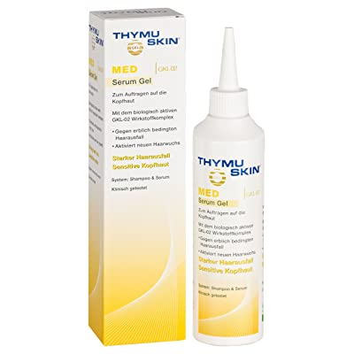 THYMUSKIN MED Serum (Step #2) for Scalp Therapy for Strong Thinning and Hair Loss to Nourishing, Reinforce, and Strengthening Hair. Hair Condition: Sensitive Hair Where Balding is Already Present