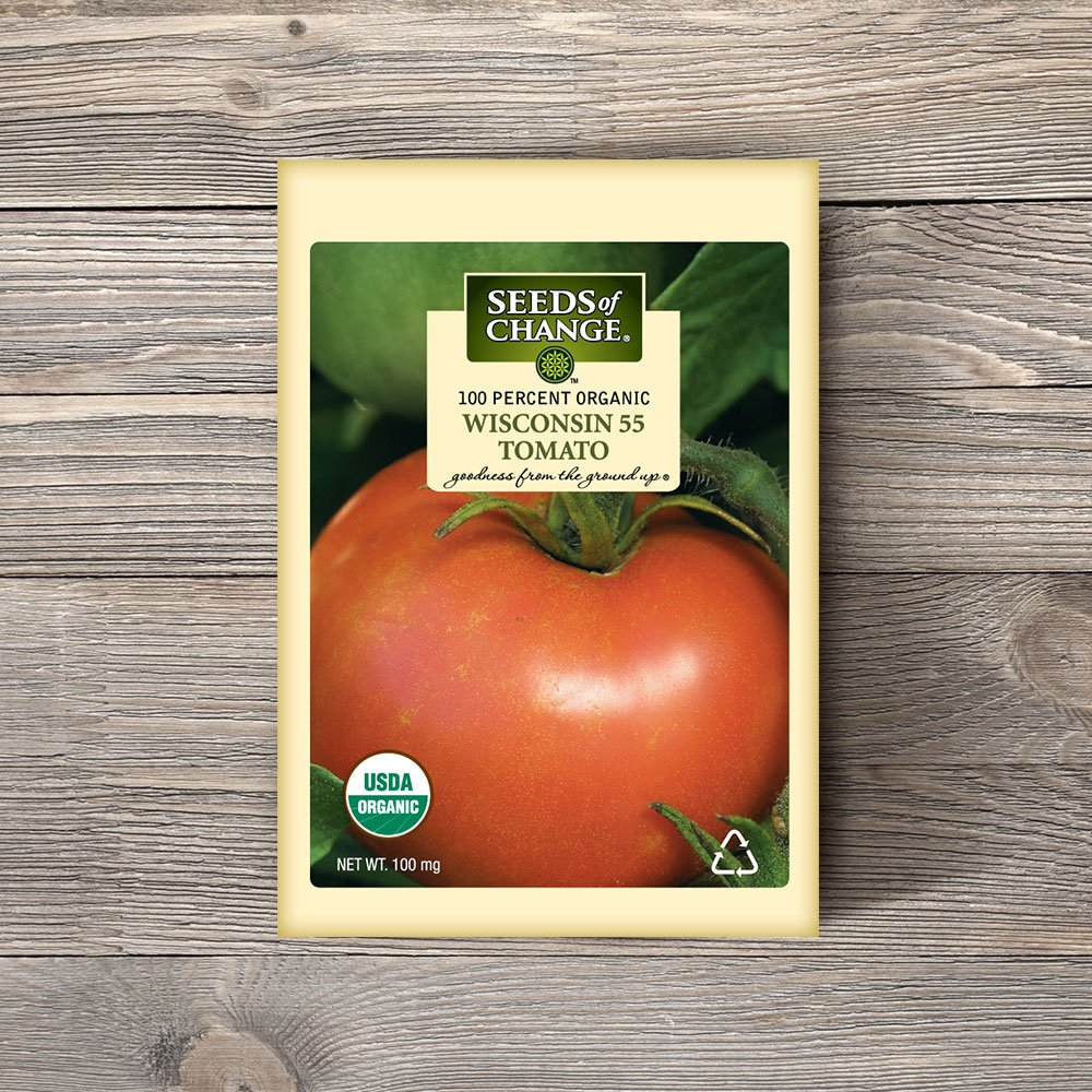 Amazon.com : Seeds of Change 05001 Certified Organic Wisconsin 55 Slicer Tomato : Vegetable Plants : Garden & Outdoor
