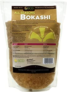 SCD Probiotics All Seasons Bokashi - Compost Starter & Microbial Inoculant - Dry Bokashi Bran for Kitchen Compost Bin - Compost Food & Pet Waste Quickly & Easily with Low Odor - 2.2 lbs
