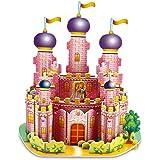3D Puzzle Creative Handmade Assemble Jigsaw Toys Pink Princess Castle (35 Pieces)