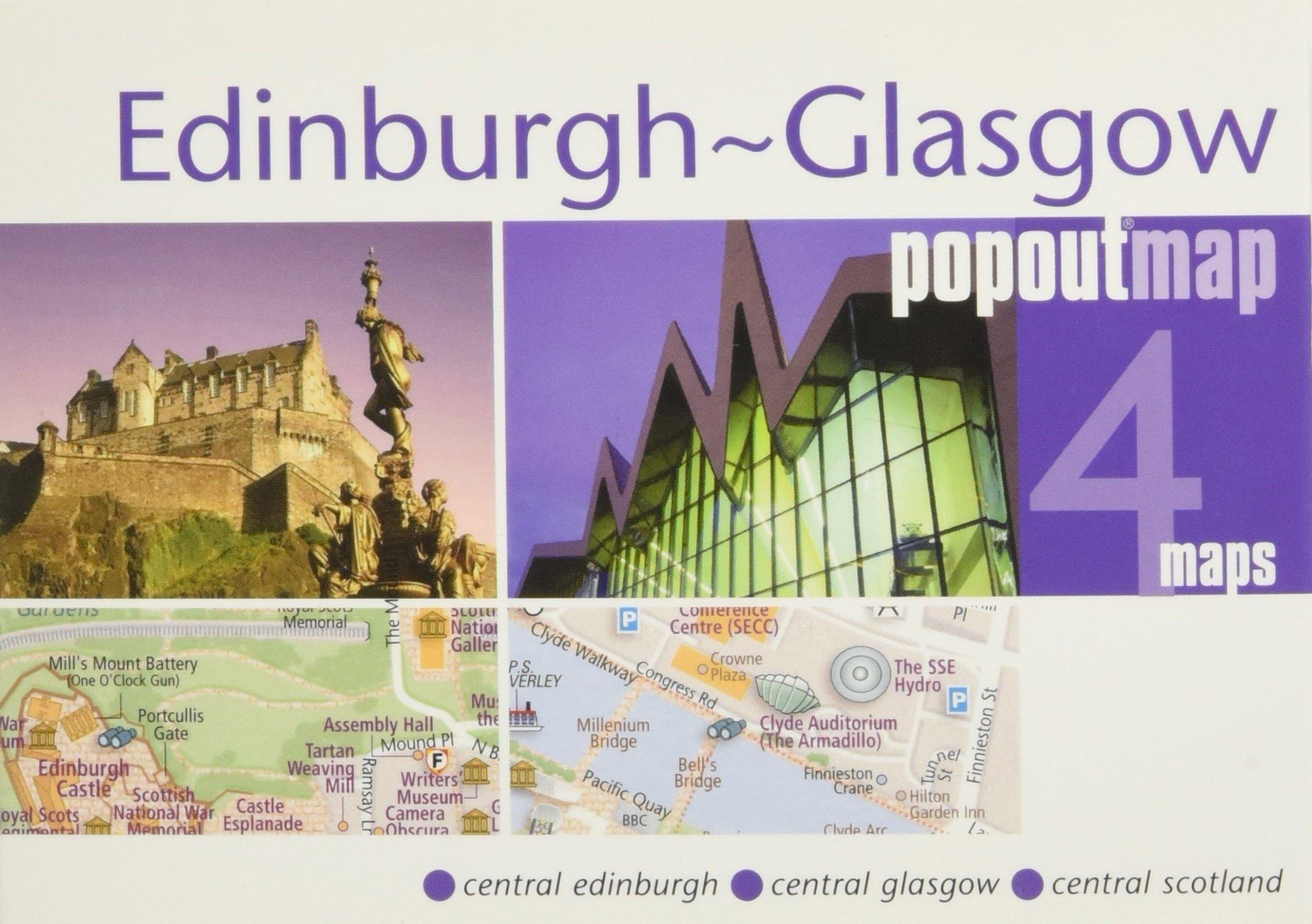 Popout Map Edinburgh - Glasgow (Popout Maps)