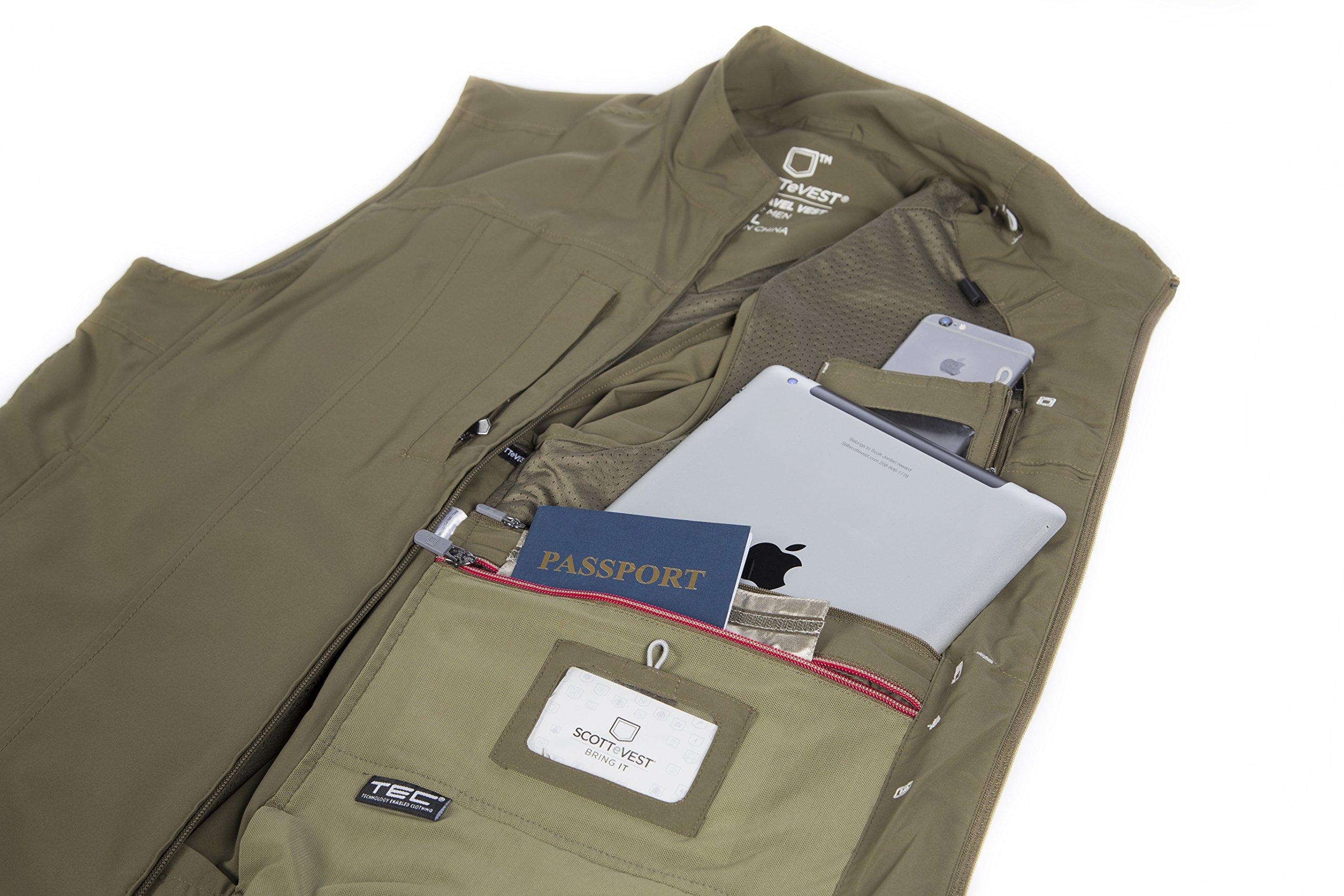 SCOTTeVEST Men's RFID Travel Vest - 26 Pockets – Travel Clothing Blk XXXL by SCOTTeVEST (Image #6)