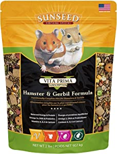 (3 Pack) Vitakraft Vita Prima Hamster and Gerbil Formula - 6 Pounds Total
