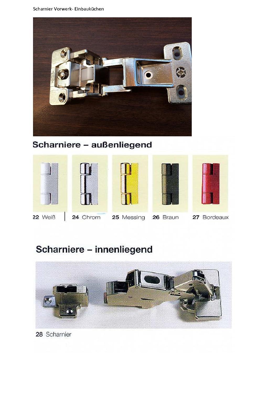 2 Stück VORWERK Hettich Scharnier Topfband Möbelband Topfscharnier ...