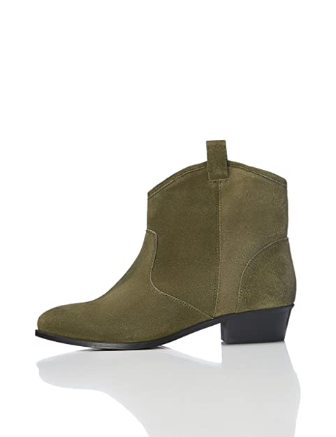 f58f519a1f8f9 FIND Botines de Ante Estilo Vaquero para Mujer  Amazon.es  Zapatos y  complementos