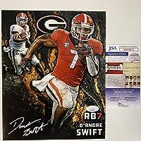 $74 » Autographed/Signed D'Andre Swift Georgia Bulldogs 8x10 College Football Photo JSA COA #3