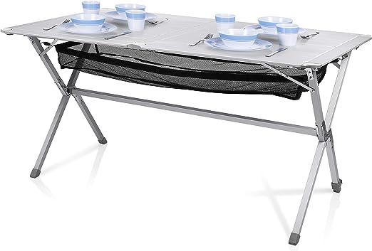 Mesa de camping Campart Travel TA-0806 – 140 x 80 cm – Tablero ...