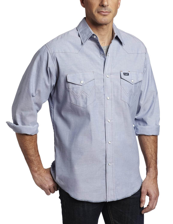 Wrangler(ラングラー)メンズ オーセンティックなカウボーイカット ウエスタンワークシャツ 長袖 B005DIKXM4 16 1/2 33|シャンブレー シャンブレー 16 1/2 33