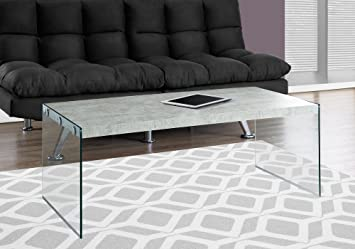 Amazoncom Monarch Specialties Coffee Table Grey Cement with