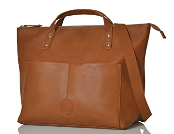 525560a303b7d PacaPod Saunton Tan Designer Baby Changing Bag - Luxury Faux Leather Tote 3  in 1 Organising