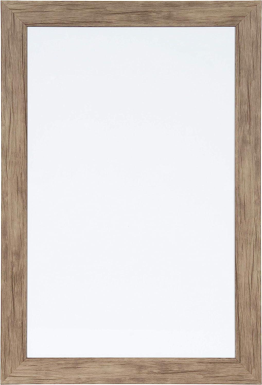 DesignOvation Beatrice Framed Magnetic Dry Erase, 18x27, Rustic Brown