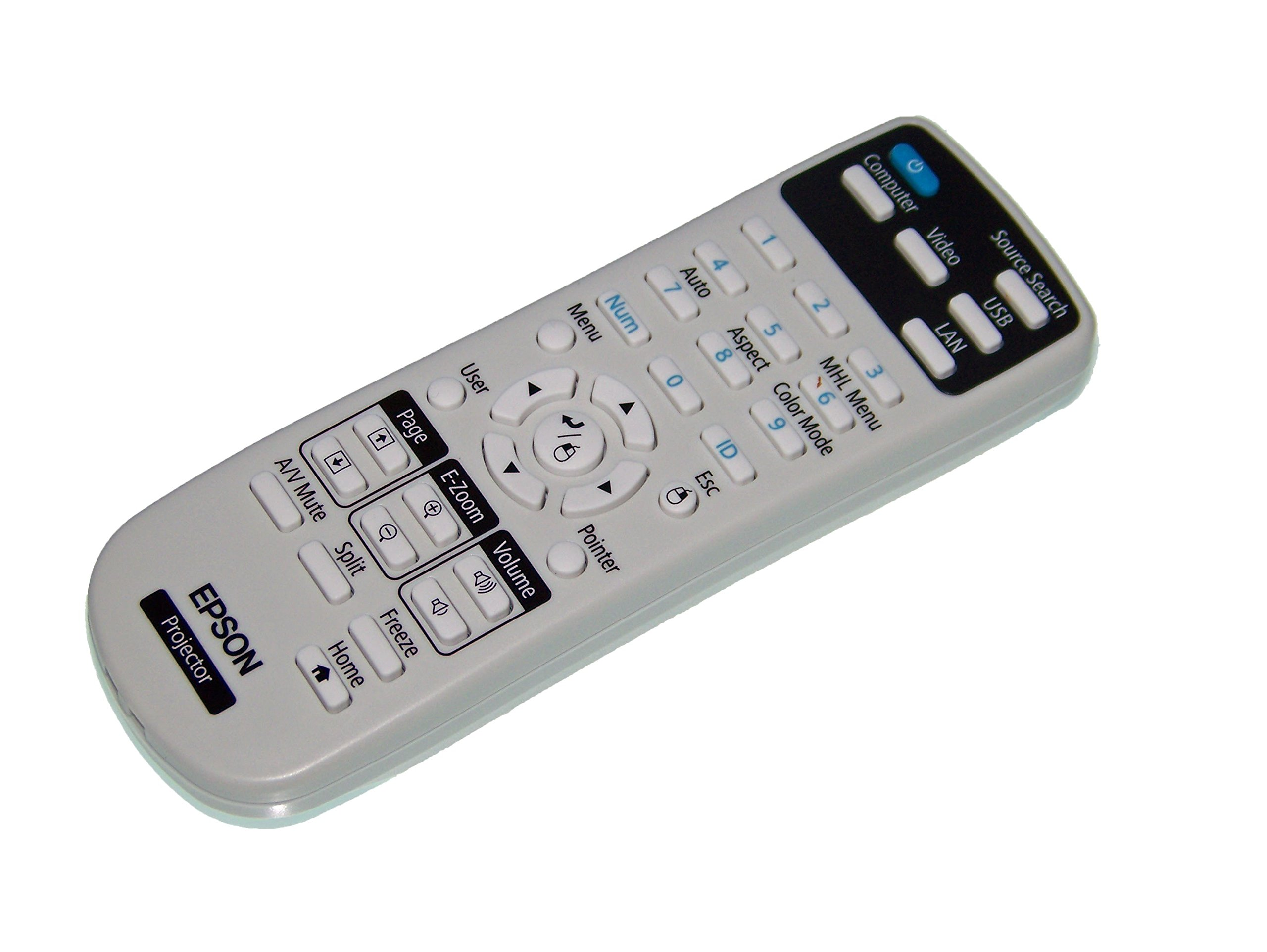 OEM Epson Projector Remote Control: PowerLite Home Cinema 640, PowerLite Home Cinema 740HD, PowerLite Home Cinema 1040 by Epson