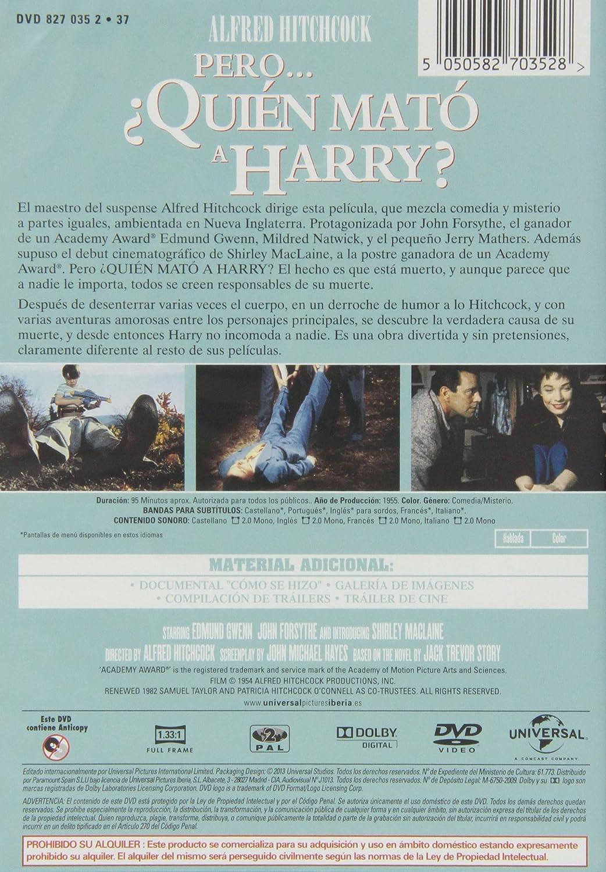 Pero... ¿Quién mató a Harry? [DVD]: Amazon.es: Edmund Gwenn, John ...