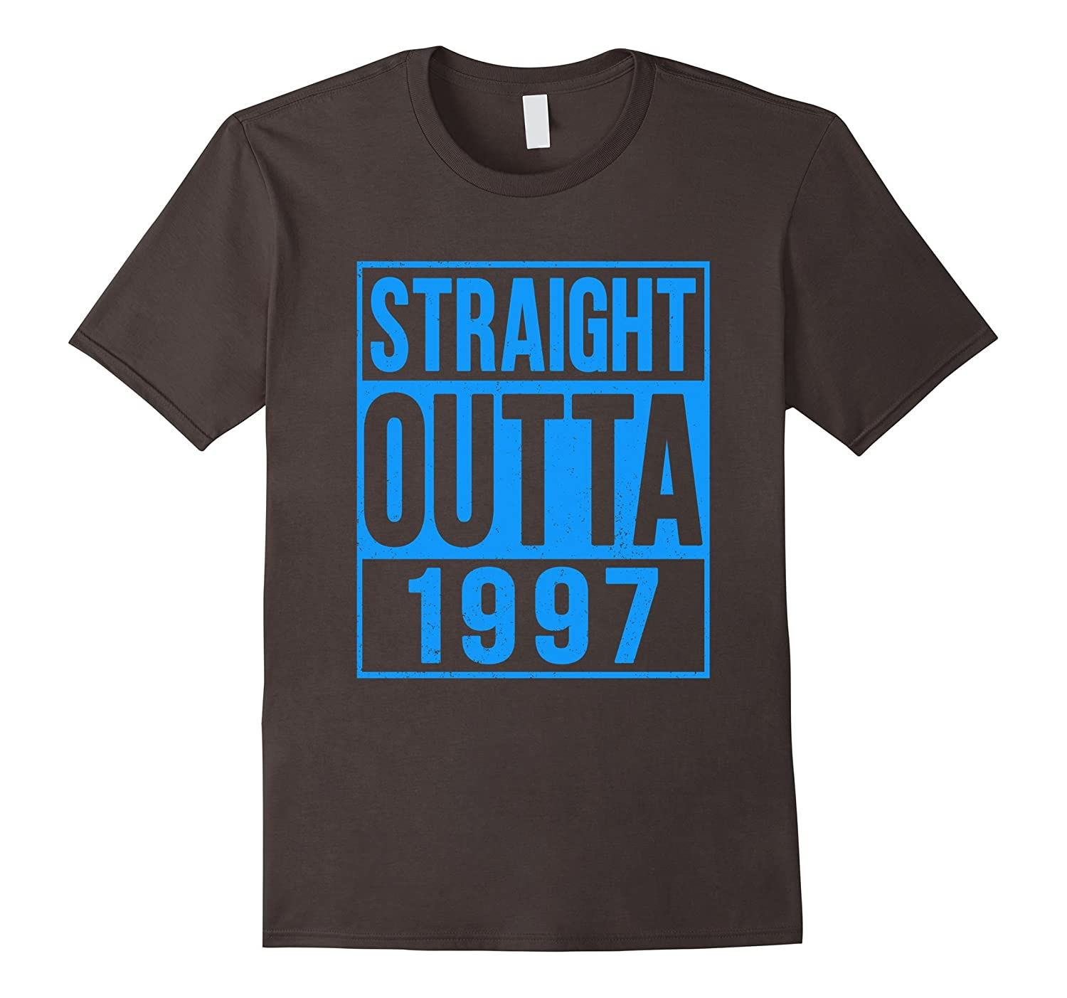 Straight Outta 1997 T-Shirt Gift for 20 Year Old - Blue-FL