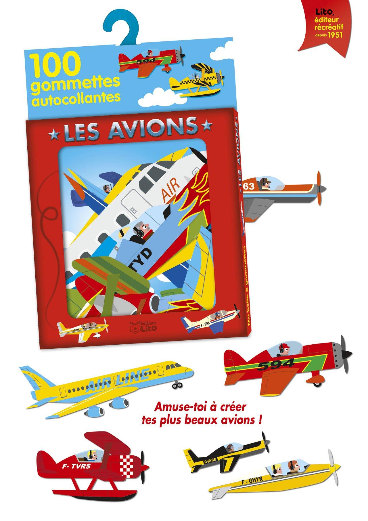 Coloriage Gommette Avion.Ma Boite A Gommettes Les Avions De 3 A 5 Ans Amazon Fr