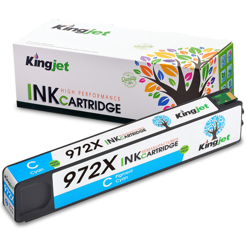 Cartucho Alternativo HP 972x Kingjet (Cyan) Pagewide Pro