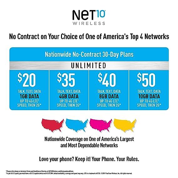 Net 10 Plans >> Net10 Tcl Lx 4g Lte Prepaid Smartphone
