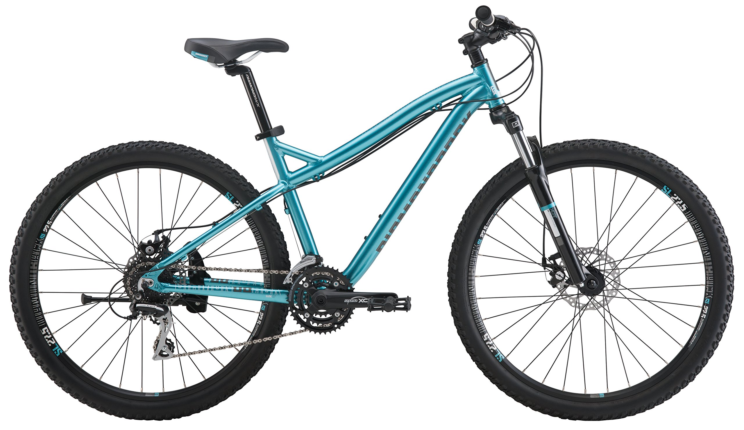 "Diamondback Bicycles Lux 27.5 St Women's Mountain Bike Small/15 Frame, Blue, 15""/ Small"