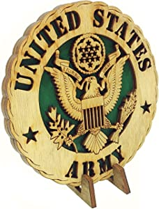 Armed Forces Army Military Decorative Laser Three Dimensional Wooden Desk Plaque