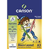 Bloco Canson Layout A3 60g/m² com 50 folhas