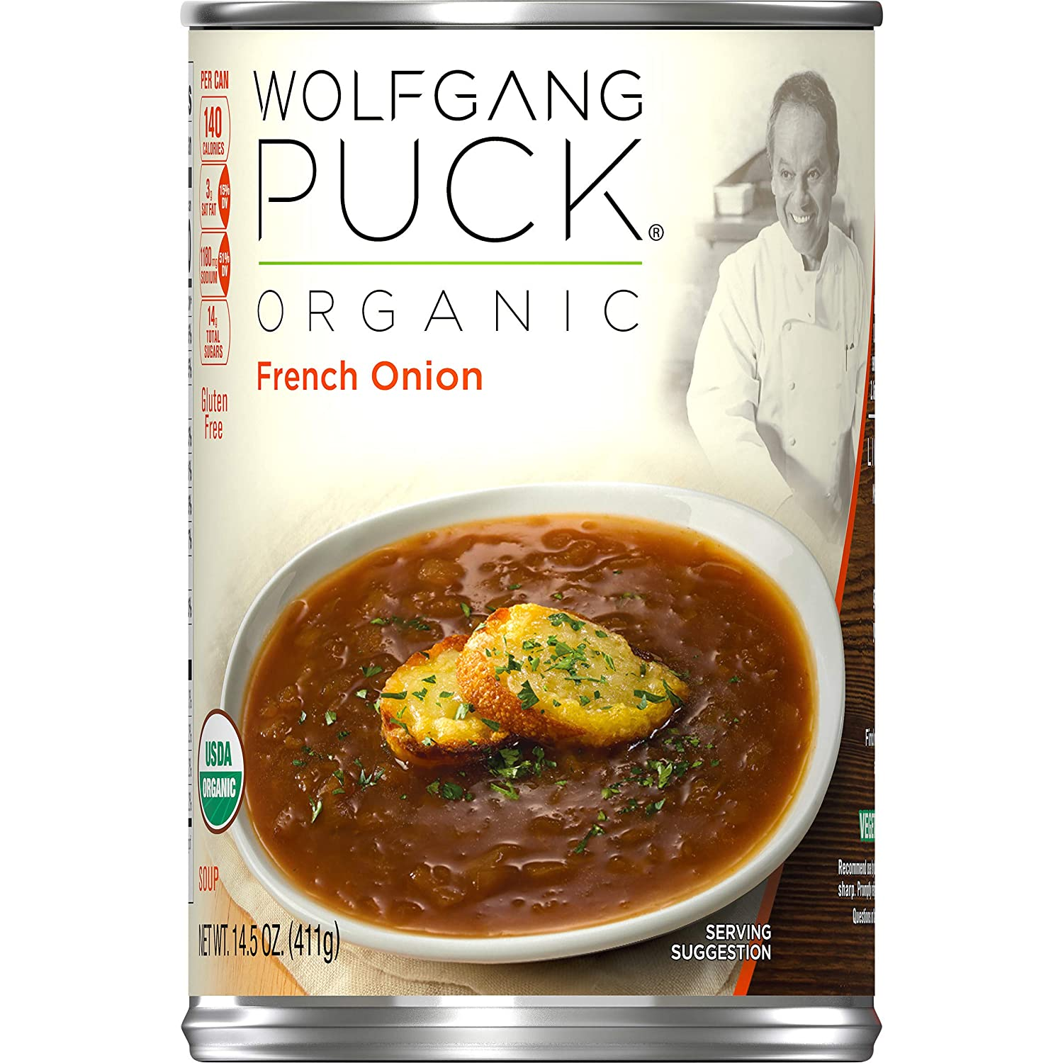 Wolfgang Puck Organic French Onion Soup, 14.5 oz. Can (Pack of 12)