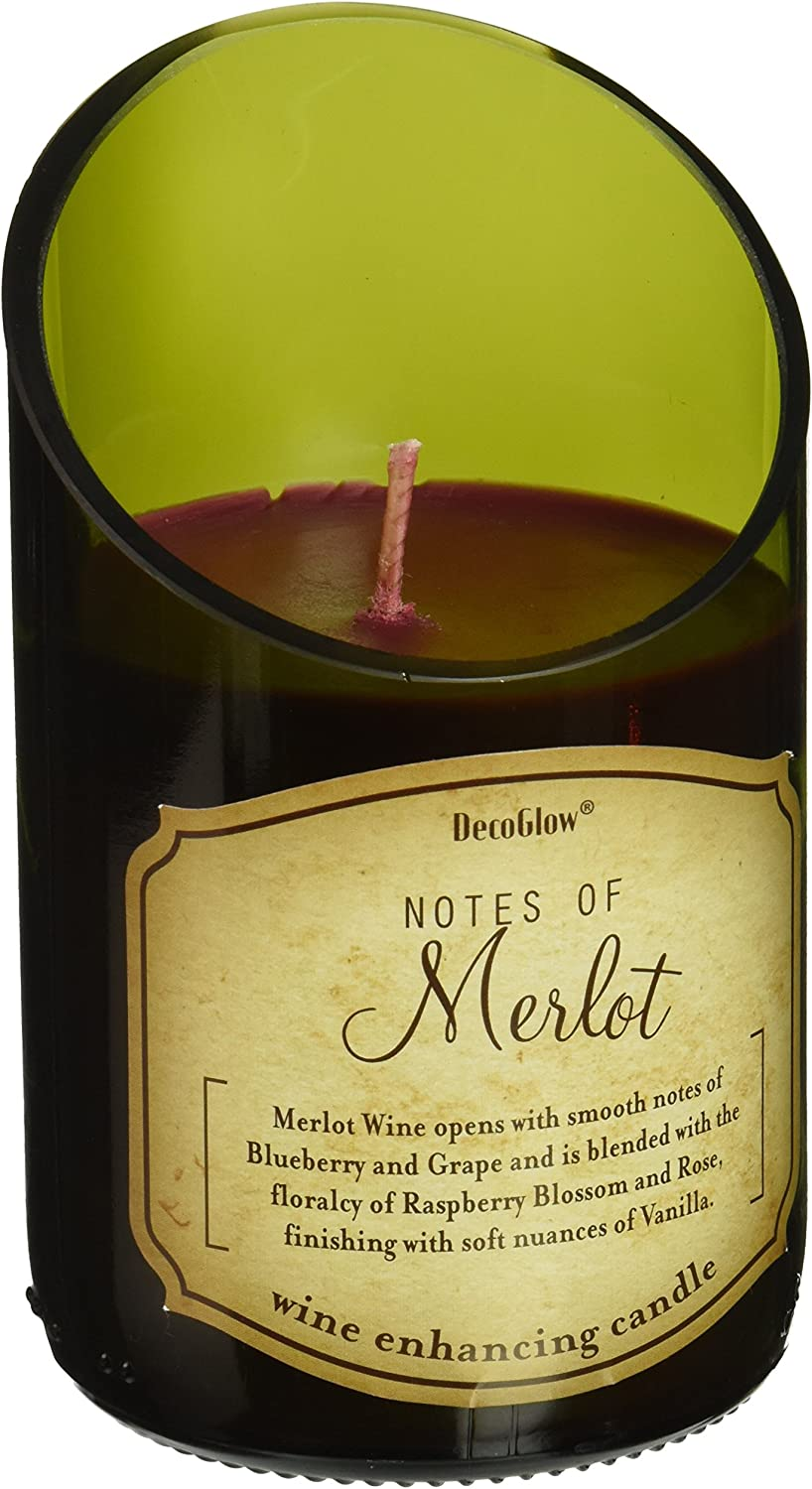 Amazon Com Zings Thingz 57073735 Merlot Scented Candle Green Home Kitchen