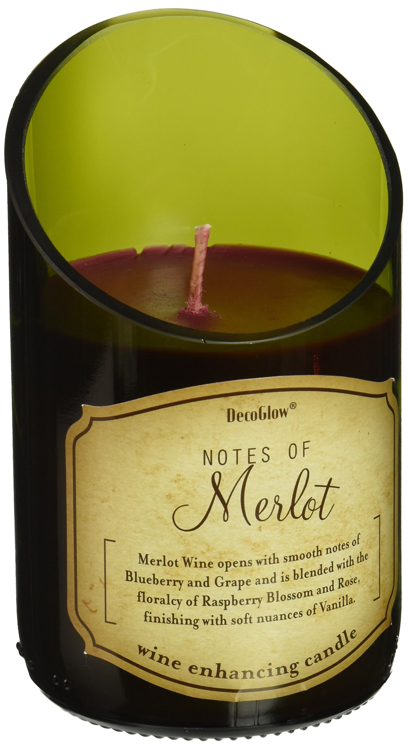Zings & Thingz 57073735 Merlot Scented Candle, Green