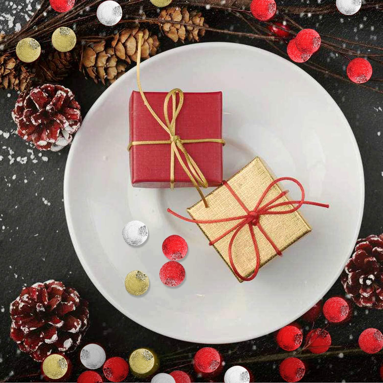 Dorado y Plateado Rojo HOWAF 240pcs Navidad Bayas Artificiales Bayas de Acebo para Guirnaldas de Navidad Decoraci/ónes de /Árbol de Navidad Manualidades Adorno