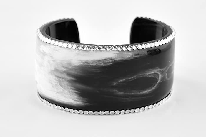 0108c66ff23 Image Unavailable. Image not available for. Color: Buffalo Horn Wide Open Cuff  Bracelet ...